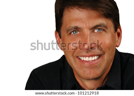 Nice Isolated Image of a handsome man