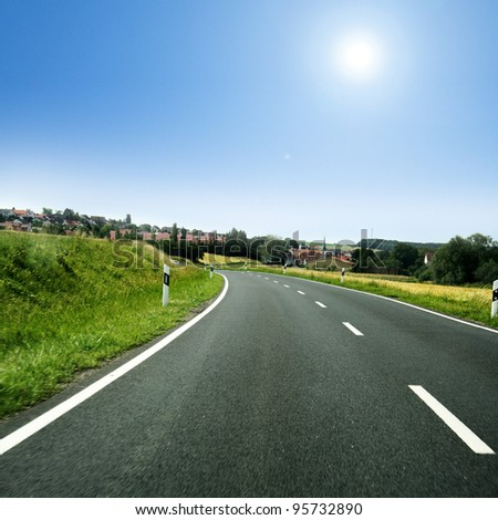 nice long and wide roads for car drivers #95732890