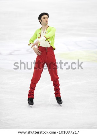 NICE - MARCH 30: Samuel Contesti of Italy performs his short program at the ISU World Figure Skating Championships, held on March 30, 2012 in Nice, France