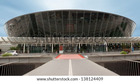NICE - MAY 7: Terminal building at Nice Cote d'Azur Airport on May 7, 2013 in France. It is the third busiest airport in France.