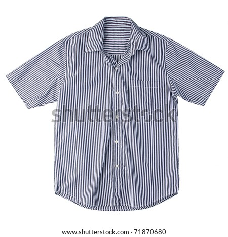 Nice men casual stripe shirt isolated on white