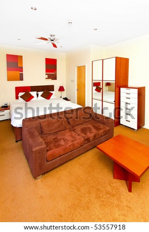 Nice Modern Studio Apartment With Practical Furniture Stock Photo