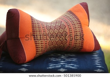 Nice neck pillow can help you comfortable when have long trave #501385900