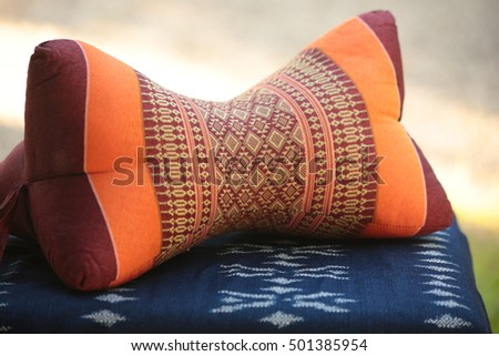 Nice neck pillow can help you comfortable when have long trave #501385954