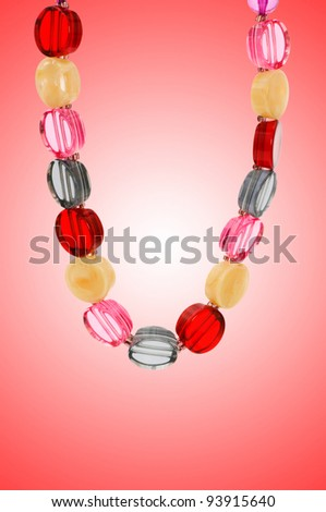 Nice necklace against gradient background