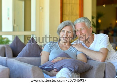 Nice old couple went to a resort vacation #207345937