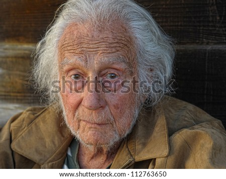 Nice outdoor Portrait of a senior Man