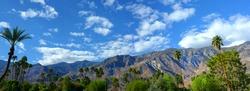 Nice panorama of Palm springs, California USA in springtime