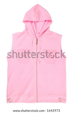 Nice pink female vest isolated on white with clipping path