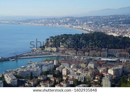 nice port nice france europe cityscape nice chateau