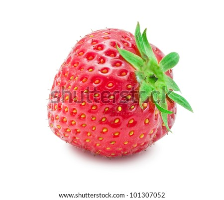 Nice red strawberry isolated on white background