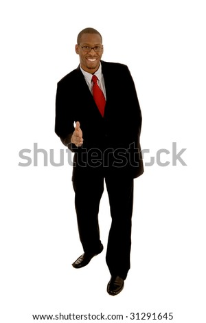 Nice simple Image of a Black Businessman Shaking Hands