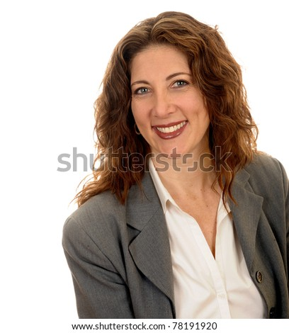 Nice single studio Portrait Of a isolated Business woman