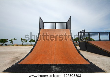 nice skate and other sports park on puplic park