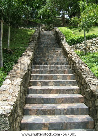 Nice stoned stairs in a garden