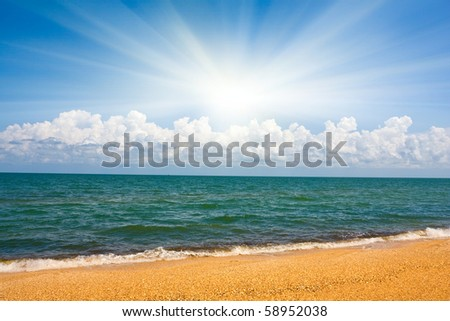 Nice summer landscape on sea