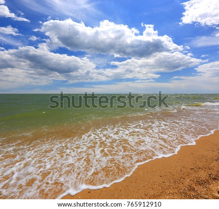 nice summer sea landscape #765912910
