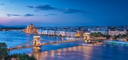 Nice sunset over Budapest