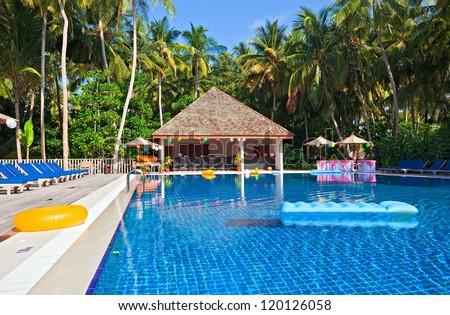 Nice swimming pool , Maldives