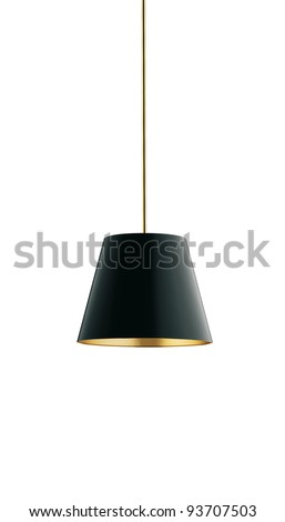 nice tall floor lamp isolated on white