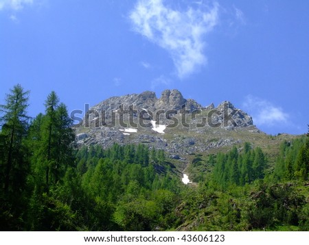 nice view in Dolomites mountains