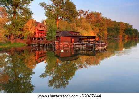 Nice Watermill - stock photo