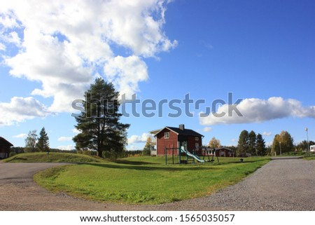Nice weather with nice landscape and cloudy sky background