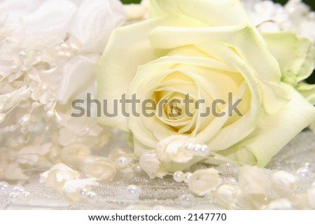 stock photo nice wedding background wedding dress fabric with pearls and a