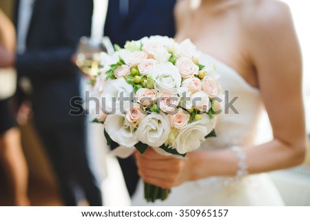 Shutterstock nice wedding bouquet in bride's hand