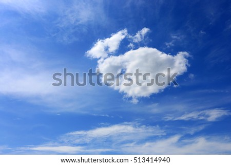 nice white clouds in blue sky #513414940