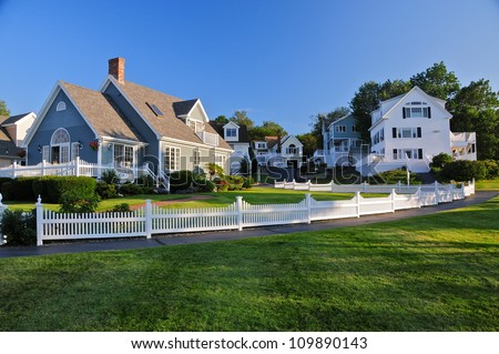 Nice Wooden houses, Perkins Cove, Maine, USA