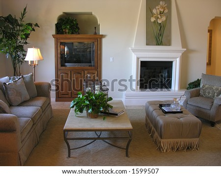 nicely decorated living room interior stock photo 1599507 shutterstock