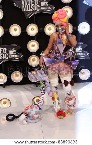Nicki Minaj at the 2011 MTV Video Music Awards Arrivals, Nokia Theatre LA Live, Los Angeles, CA 08-28-11
