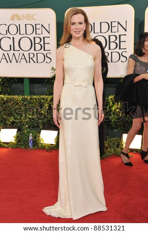 Nicole Kidman at the 68th Annual Golden Globe Awards at the Beverly Hilton Hotel. January 16, 2011  Beverly Hills, CA Picture: Paul Smith / Featureflash