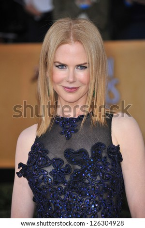 Nicole Kidman at the 19th Annual Screen Actors Guild Awards at the Shrine Auditorium, Los Angeles. January 27, 2013  Los Angeles, CA Picture: Paul Smith