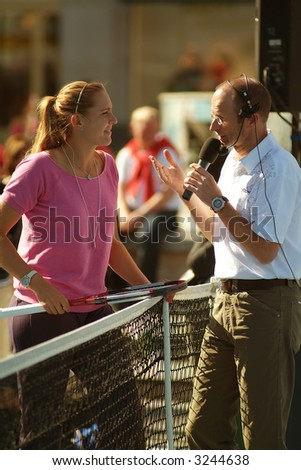 Nicole Vaidisova at a promotional event in Berlin Alexanderplatz, 4th of may, 2007