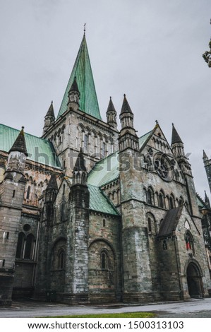 Nidaros Cathedral - Lutheran Cathedral in Nidaros, Norway's historically most significant church, coronation site of Norwegian monarchs, Trondheim #1500313103