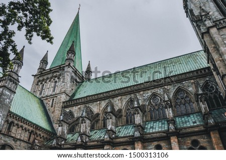 Nidaros Cathedral - Lutheran Cathedral in Nidaros, Norway's historically most significant church, coronation site of Norwegian monarchs, Trondheim #1500313106