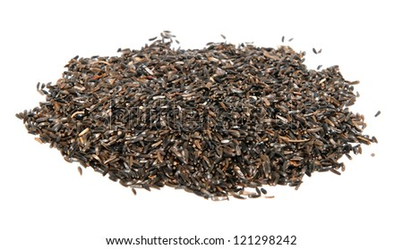 Niger seed bird food, isolated on a white background