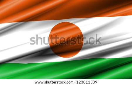 Niger Waving Flag