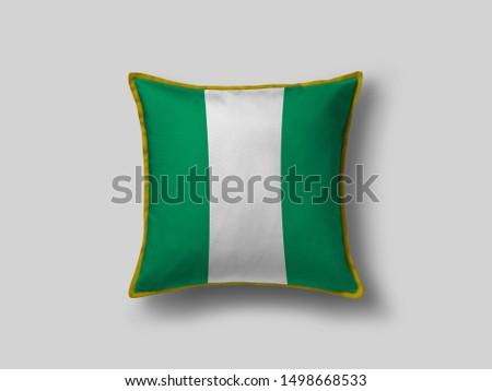Nigeria Flag Pillow & Cusion Cover. Nigeria cushion cover. Flag Pillow Cover with Nigeria Flag #1498668533