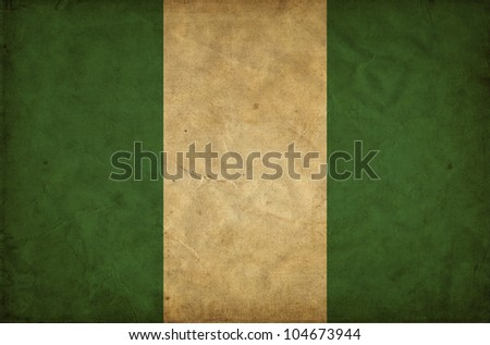 Nigeria grunge flag