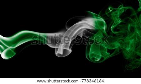 Nigeria smoke flag #778346164