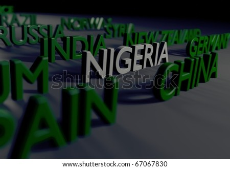 Nigeria Tribute/Digitally rendered scene with typography