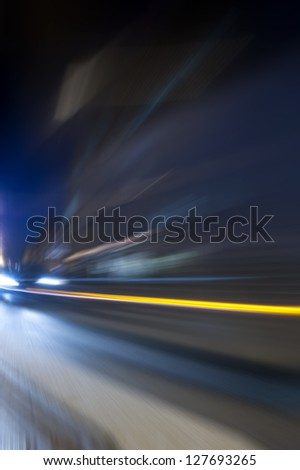 Night acceleration speed motion abstract composition