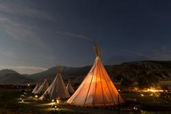 night at tipi hotel yellowstone