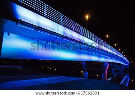 Night bridge Stock fotó ©