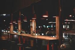 night cafe windows
