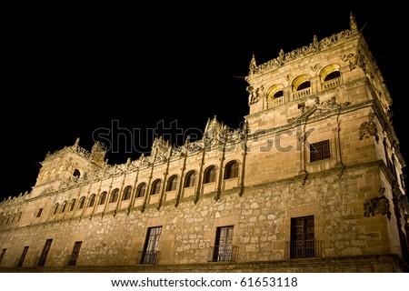 night castle in Europe
