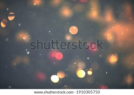 NIGHT CHRISTMAS LIGHTS BACKGROUND, CHRISTMAS EVE, FESTIVE BOKEH Foto stock ©